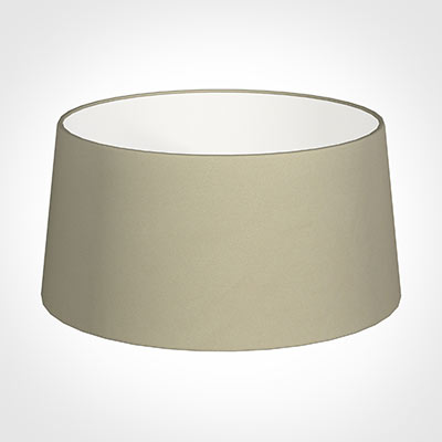 45cm Wide French Drum Shade in Pale Smoke Satin