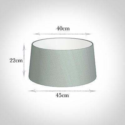 45cm Wide French Drum Shade in French Grey Silk