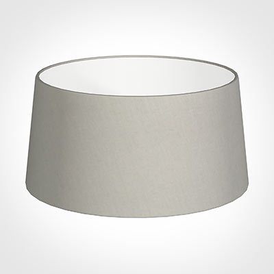 45cm Wide French Drum Shade in Soft Grey Waterford Linen