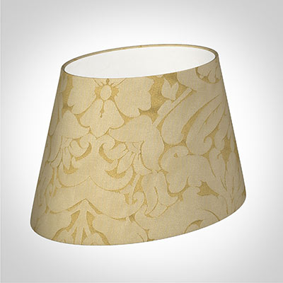 30cm Sloped Oval Shade in Gold Chatsworth
