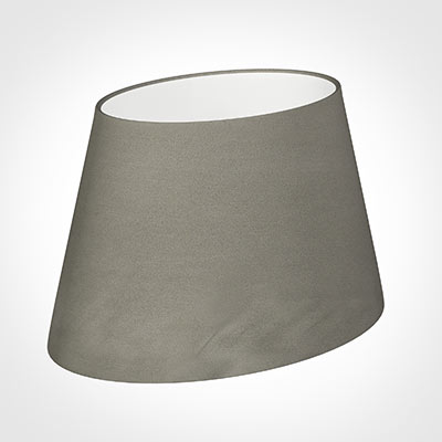 30cm Sloped Oval Shade in Pewter Satin