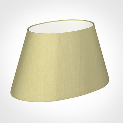45cm Sloped Oval Shade in Wheat Faux Silk