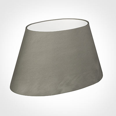 45cm Sloped Oval Shade in Pewter Satin