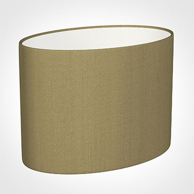 30cm Straight Oval Shade in Dull Gold Faux Silk