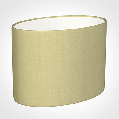 30cm Straight Oval Shade in Wheat Faux Silk