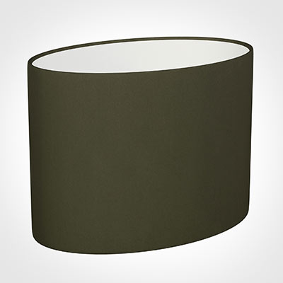 30cm Straight Oval Shade in Laurel Satin