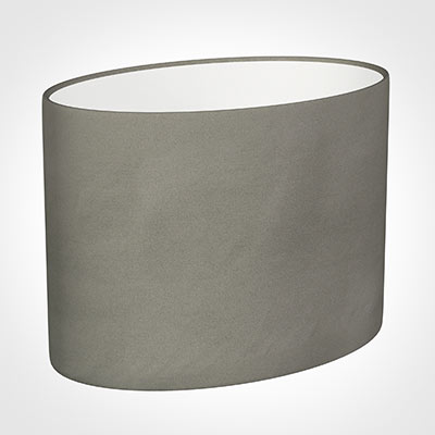 30cm Straight Oval Shade in Pewter Satin