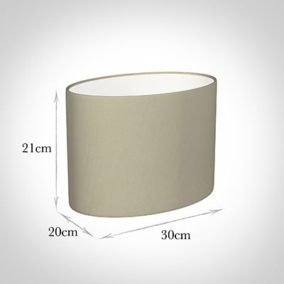 30cm Straight Oval Shade in Pale Smoke Satin