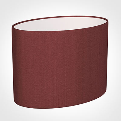 30cm Straight Oval Shade in Antique Red Silk