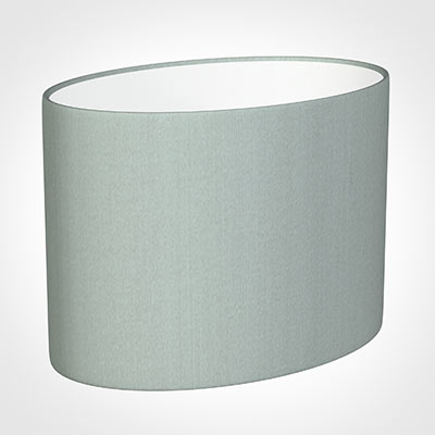 30cm Straight Oval Shade in French Grey Silk