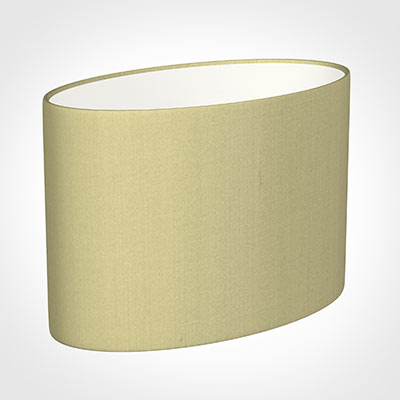 35cm Straight Oval Shade in Wheat Faux Silk