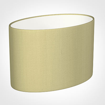 40cm Straight Oval Shade in Wheat Faux Silk