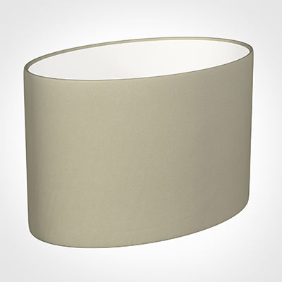 40cm Straight Oval Shade in Pale Smoke Satin
