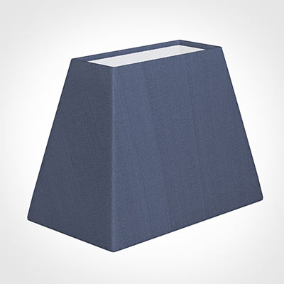 36cm Sloped Rectangle Shade in Blue Faux Silk