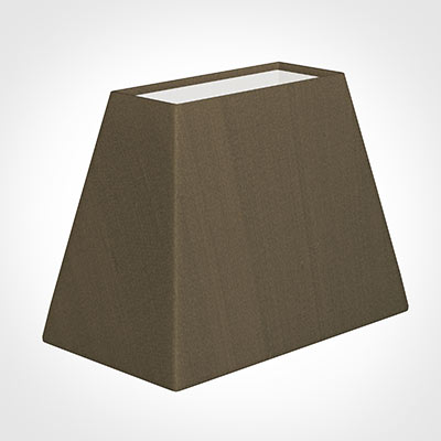36cm Sloped Rectangle Shade in Bronze Faux Silk