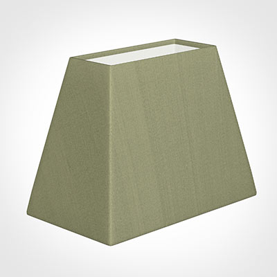 36cm Sloped Rectangle Shade in Pale Green Faux Silk