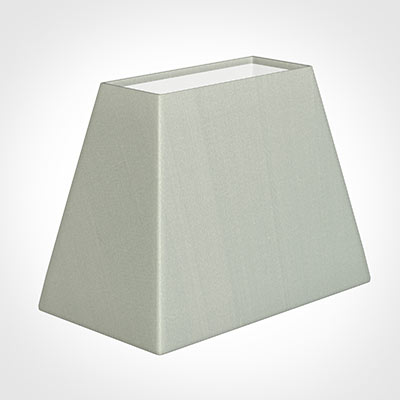 36cm Sloped Rectangle Shade in Soft Grey Faux Silk