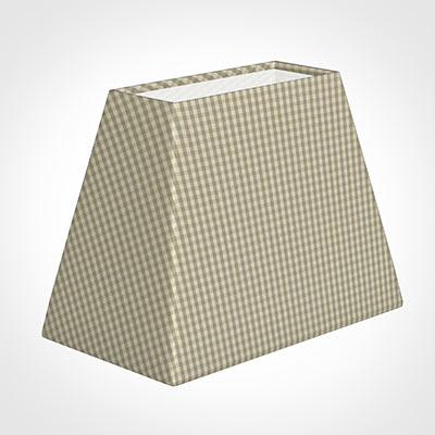 36cm Sloped Rectangle Shade in Natural Longford Gingham