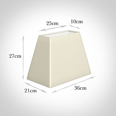 36cm Sloped Rectangle Shade in Cream Satin