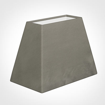 36cm Sloped Rectangle Shade in Pewter Satin