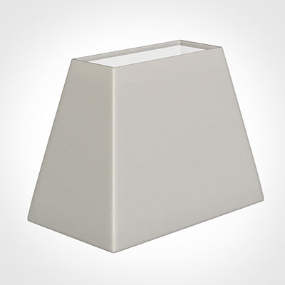36cm Sloped Rectangle Shade in Off White Waterford Linen