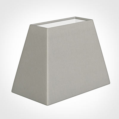 36cm Sloped Rectangle Shade in Soft Grey Waterford Linen