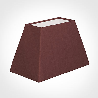 46cm Sloped Rectangle Shade in Old Red Faux Silk