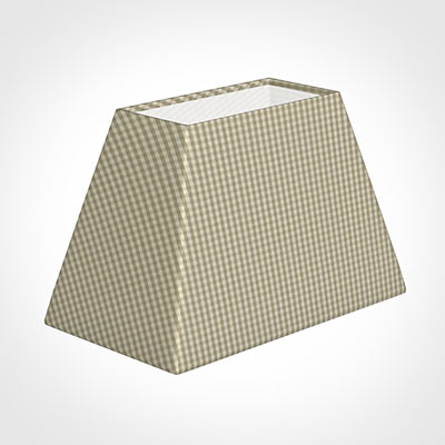 46cm Sloped Rectangle Shade in Natural Longford Gingham