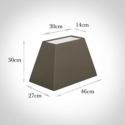 46cm Sloped Rectangle Shade in Bark Satin