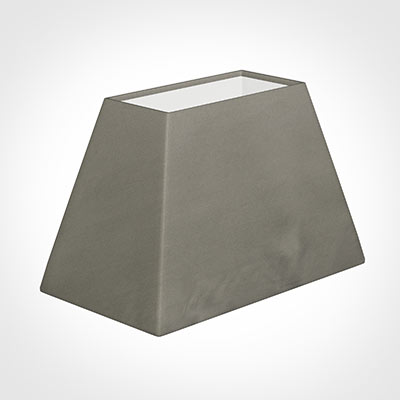46cm Sloped Rectangle Shade in Pewter Satin
