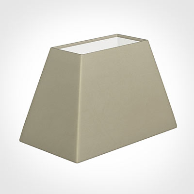 46cm Sloped Rectangle Shade in Pale Smoke Satin