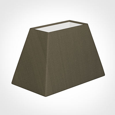 46cm Sloped Rectangle Shade in Bronze Brown Silk