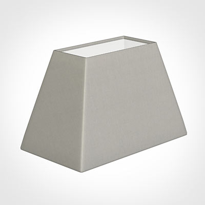 46cm Sloped Rectangle Shade in Soft Grey Waterford Linen