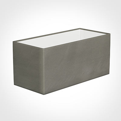 35cm Straight Rectangle Shade in Pewter Satin