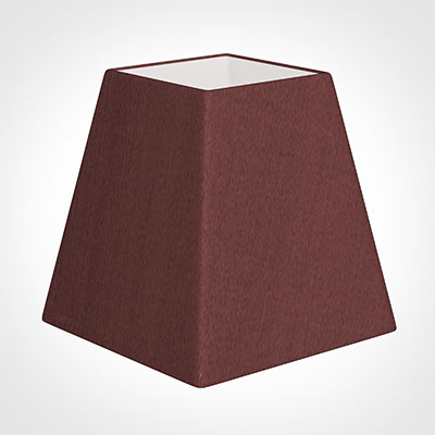 15cm Sloped Square Shade in Old Red Faux Silk