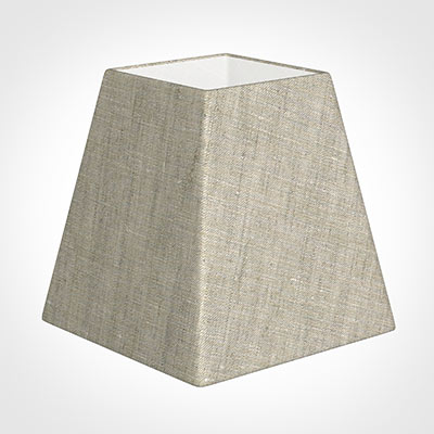 15cm Sloped Square Shade in Natural Isabelle