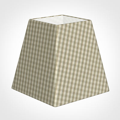 15cm Sloped Square Shade in Natural Longford Gingham
