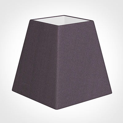 15cm Sloped Square Shade in Heather Silk