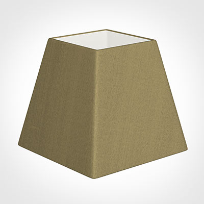 20cm Sloped Square Shade in Dull Gold Faux Silk