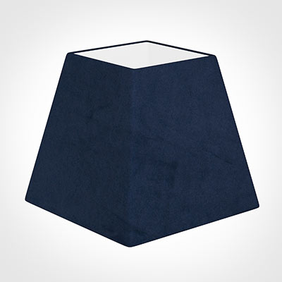 20cm Sloped Square Shade in Navy Blue Hunstanton