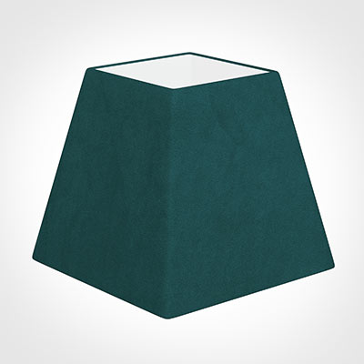 20cm Sloped Square Shade in Teal Hunstanton Velvet