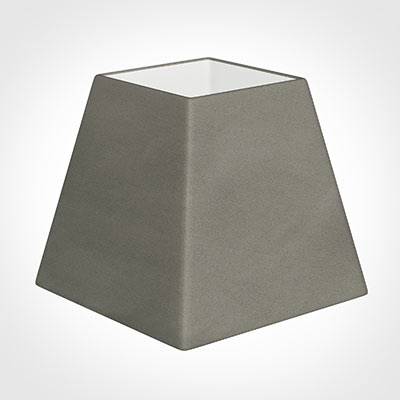 20cm Sloped Square Shade in Pewter Satin