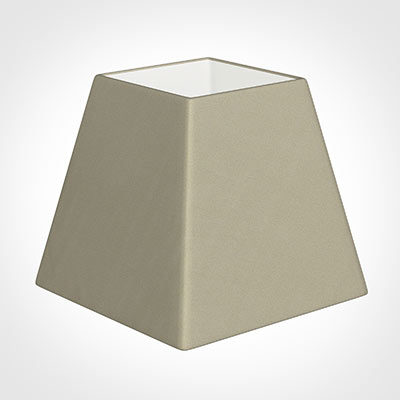 20cm Sloped Square Shade in Pale Smoke Satin