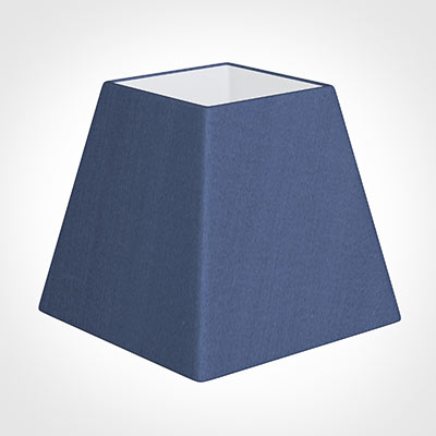 20cm Sloped Square Shade in Slate Blue Silk