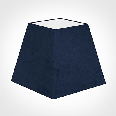 25cm Sloped Square Shade in Navy Blue Hunstanton