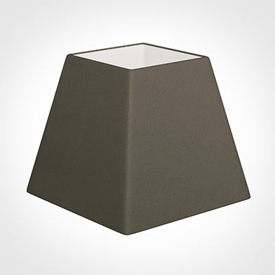 25cm Sloped Square Shade in Bark Satin