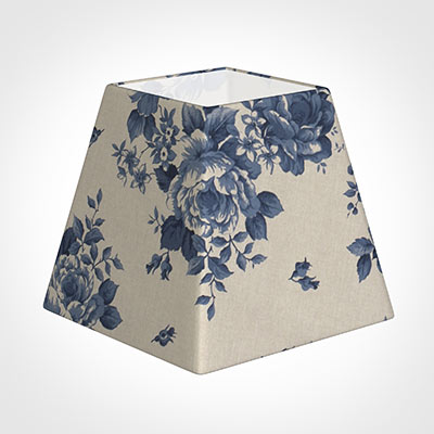 30cm Sloped Square Shade in Blue Bloom