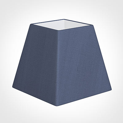 30cm Sloped Square Shade in Blue Faux Silk