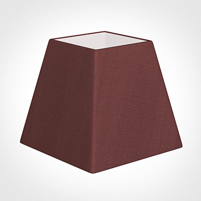 30cm Sloped Square Shade in Old Red Faux Silk