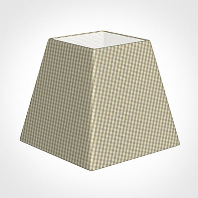 30cm Sloped Square Shade in Natural Longford Gingham